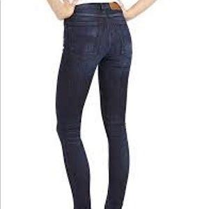NWT Nudie Jeans High Kai Used Navy 28x32 MSRP $195